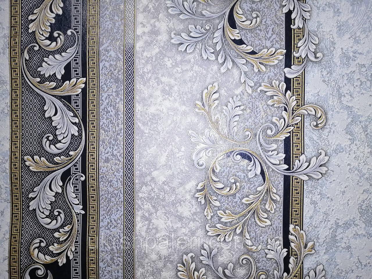 Обои 3673-03 виниловые на флизелиновой основе ширина 1.06,в рулоне 5 полос по 3 метра.