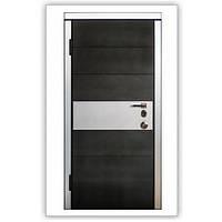 Двери входные металлические с МДФ Steelguard™ модель «Italy» Черный мат