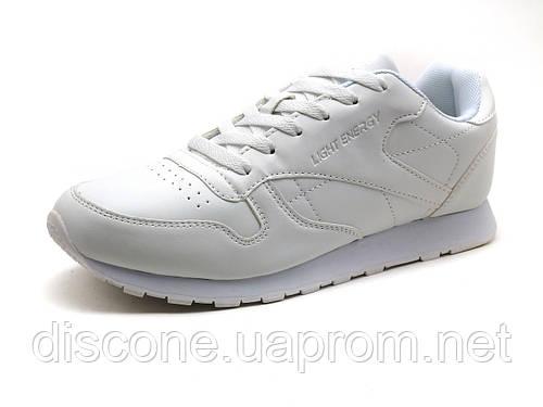 Кроссовки мужские BaaS Light Energy, кожаные, белые