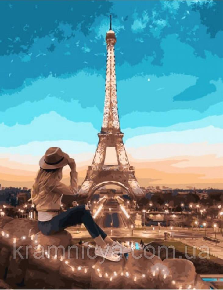 Картина по номерам 40x50 Вид на Париж, Rainbow Art (GX28152)