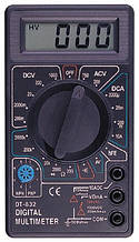 Мультиметр цифровой DT 832