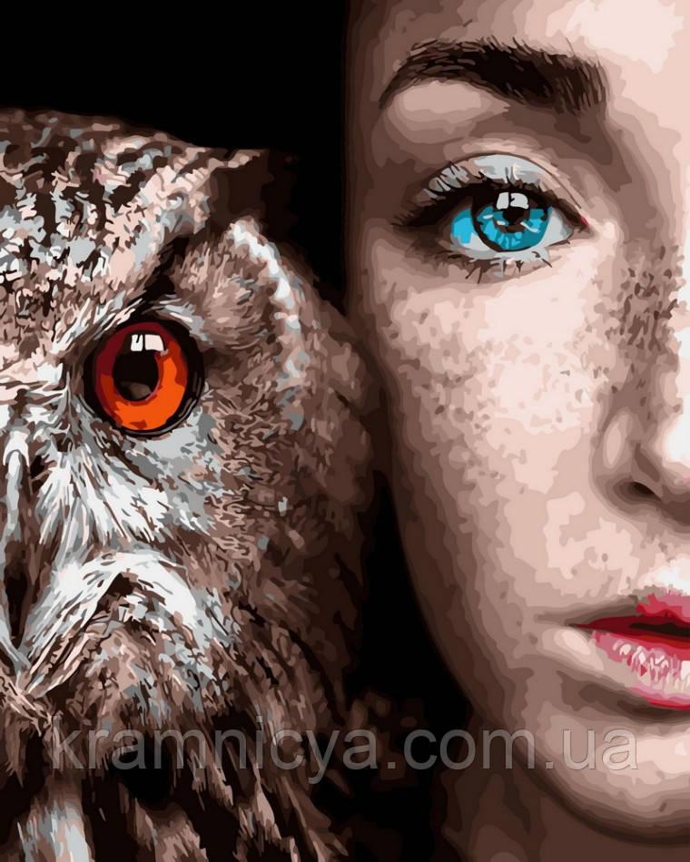 Картина по номерам 40x50 Девушка и сова, Rainbow Art (GX30916)