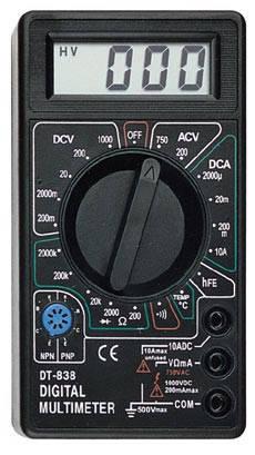 Мультиметр цифровой DT 838 + Термопара, фото 2