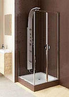 Душевые маятниковые двери Aquaform Glass 5 103-06355 со стенкой 103-06379, 800х800х1850 мм