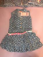 Джинсовый сарафан для девочки  на 6 - 7 лет