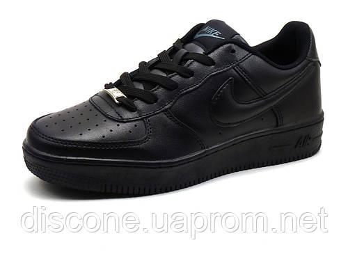 Kроссовки (кеды) мужские Найк Air, кожаные, чёрные