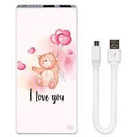 Внешнее зарядное устройство I Love You, 7500 мАч (E189-55), фото 1