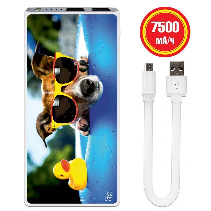 Портативная мобильная батарея Собаки в Бассейне, 7500 мАч (E189-70)