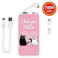 Портативный аккумулятор Kitten, 10000 мАч (E510-56), фото 1