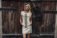 Сукня з льону з вишивкою Орнамент червоний