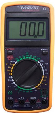 Мультиметр цифровой DT 9205A, фото 2