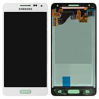 Дисплей + touchscreen (сенсор) для Samsung Galaxy Alpha S5 G850F, белый, оригинал