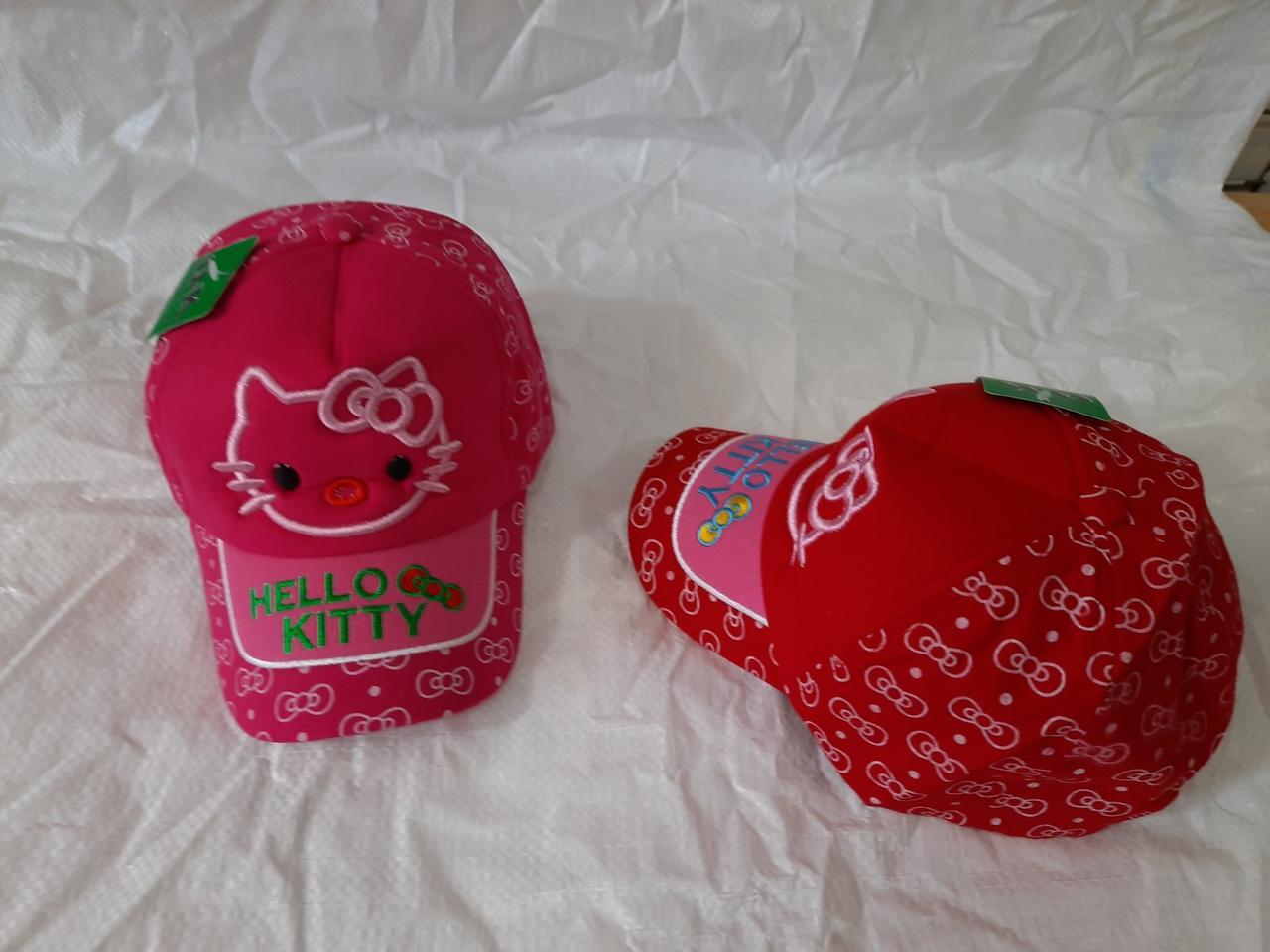 """Кепка детская коттон """"Hello Kitty"""" р-р 50-52 МИКС (от 5 шт)"""