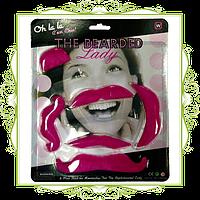Усы накладные розовые 6 шт.