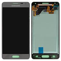 Дисплей + touchscreen (сенсор) для Samsung Galaxy S5 Alpha G850F, оригинал (серебристый)