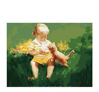 Раскраска Два малыша, фото 2