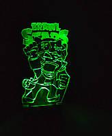 3d-светильник Сэнди, Sandy, Бравел Старс, 3д-ночник, несколько подсветок (на пульте)