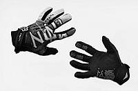 """Перчатки   """"FOX""""   (mod:Monster energy, art:3) (XL, черно-белые)"""