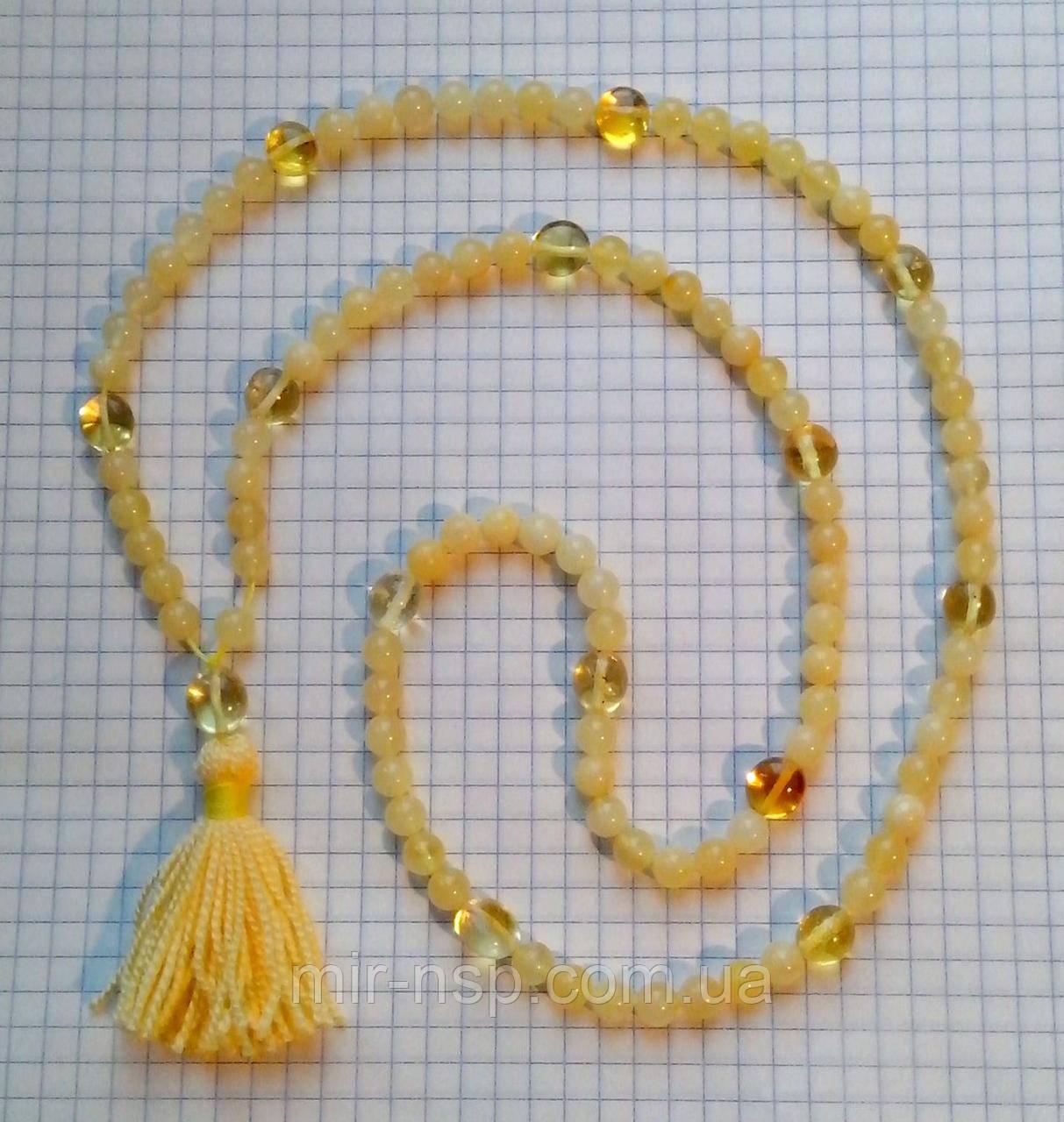 Мала четки 108 бусин 100% натуральный янтарь (не пресс, не плавка) шар 6 мм вес 17г