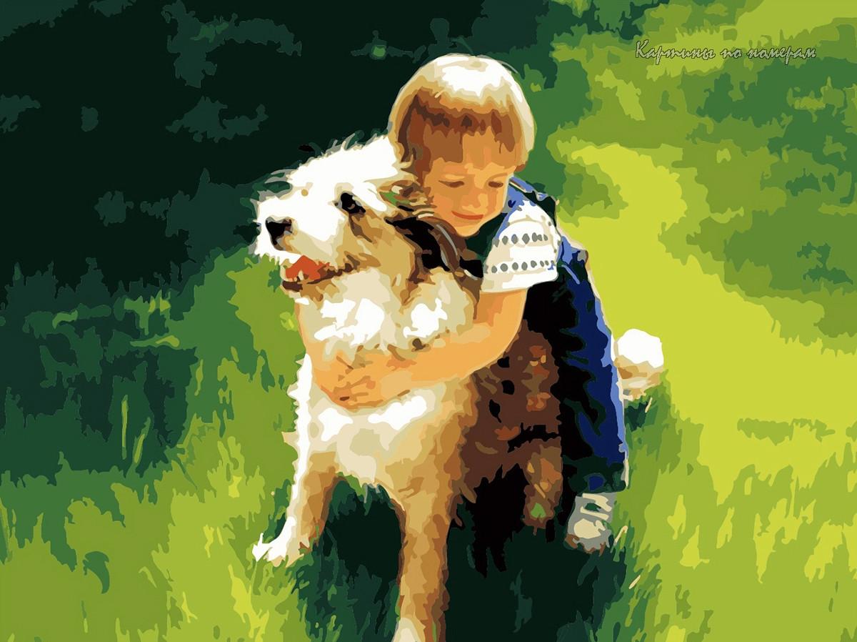 Картина на холсте Menglei Верный друг