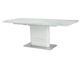 Стол раскладной CARTIER мрамор/ белый 160(220)x90 (Signal)