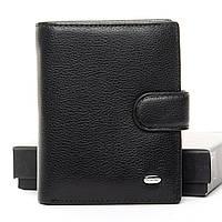 Мужское кожаное портмоне DR. BOND  M33 black.Мужские портмоне оптом и в розницу., фото 1