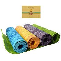 Коврик для занятий спортом йоги Йогамат Разные цвета