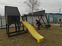 Детская игровая площадка из дерева, комплекс детский, игровой п13