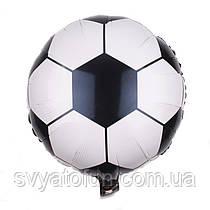 """Фольгированный круглый шар """"Футбольный мяч"""" 18"""" Китай"""