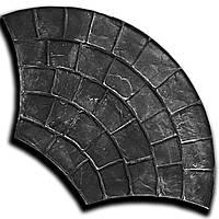 Веер 54*97 см - резиновый штамп для бетона; имитация брусчатки; веерная укладка; форма печтного цемента, фото 1