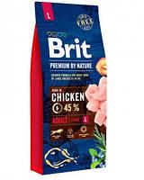 Корм Брит Премиум Адалт L Brit Premium by Nature Adult L для собак крупных пород 15 кг