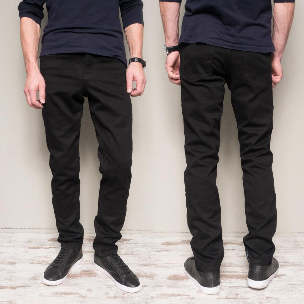 5022 Dsouaviet джинсы мужские черные на флисе зимние стрейчевые (30,33,34,36,38, 5 ед.)