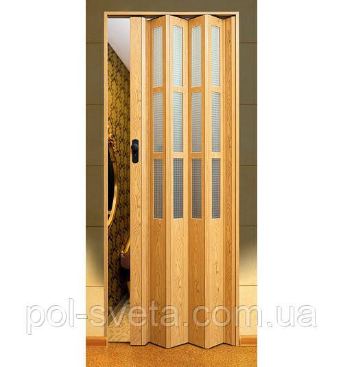 Дверь гармошка Symfonia Светлый дуб