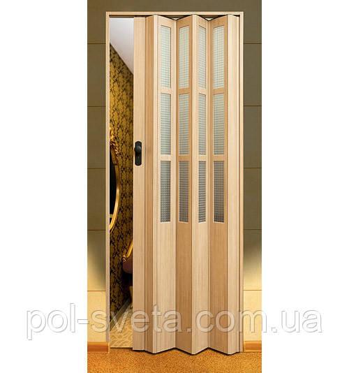 Дверь гармошка Symfonia Мускатный орех