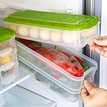 Пластиковий контейнер для продуктів 3 яруси