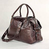 Прочная кожаная дорожная сумка