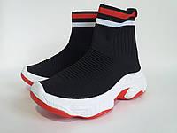 Высокие кроссовки  трикотаж качества LUX, недорого.