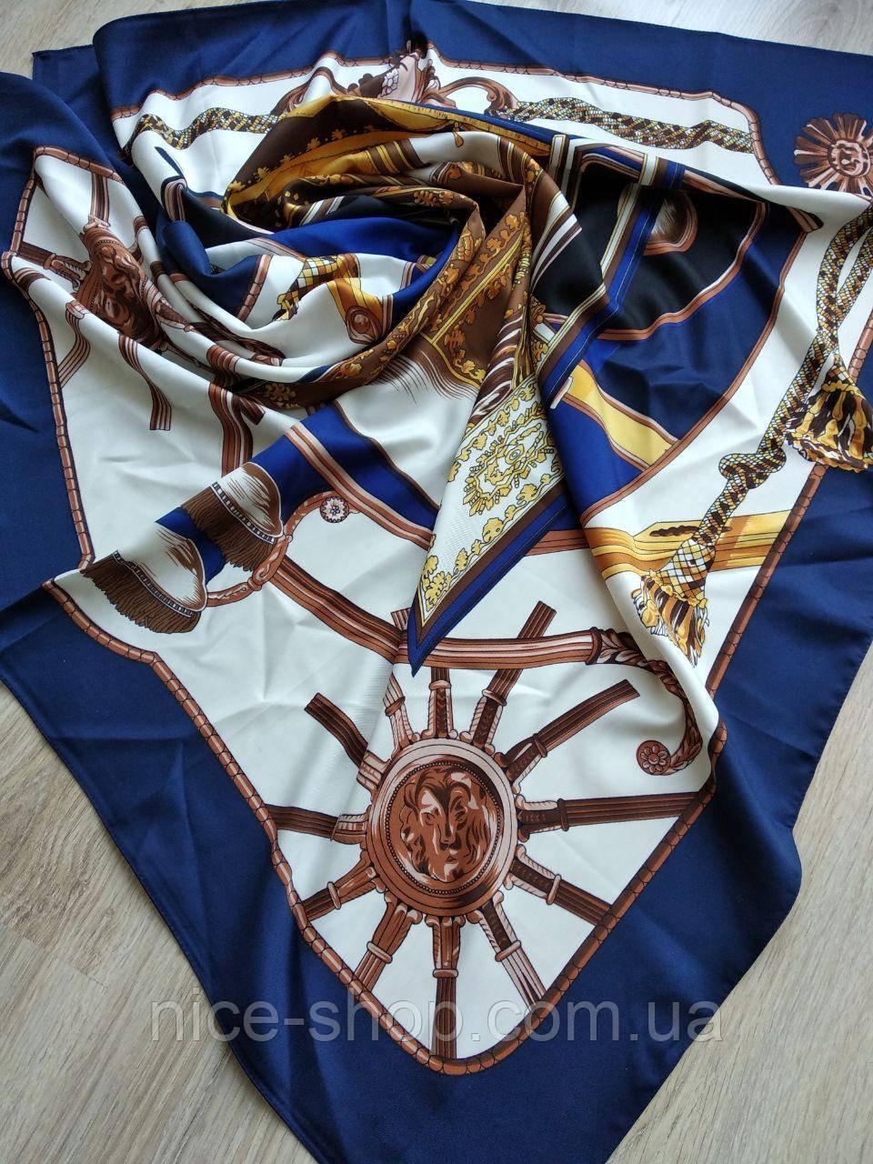 Платок шелковый в стиле Hermes