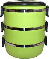 Ланч-бокс Henks LB-015 green 1,5 л 3 отделения