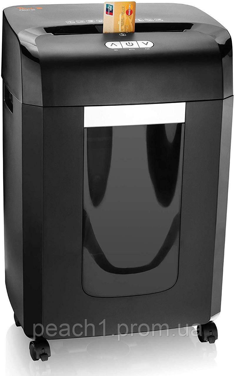 Автоматический измельчитель бумаги Peach High Performance Cross Cut Shredd | 18 листов | 23 литр |  4х35 (П-4)