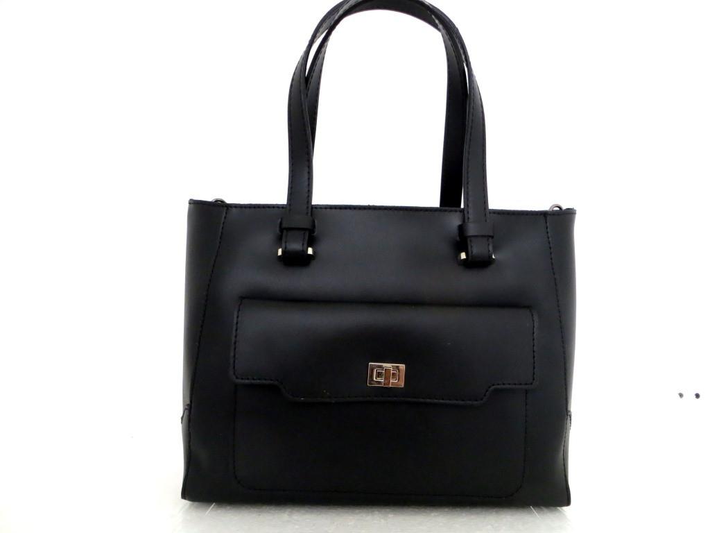 Удобная женская сумка 100% натуральная кожа. Италия. Черный