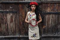 Сукня з льону з вишивкою Братчики - без рукава, фото 1