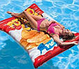 Пляжный надувной матрас-плот Intex 58776 EU «Чипсы», 178*140 см, фото 3
