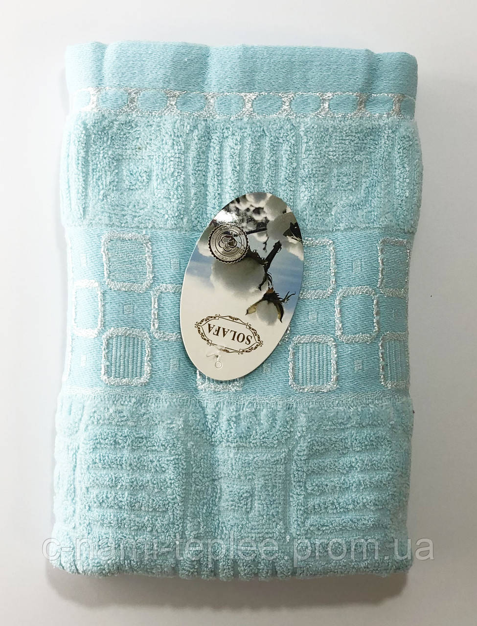 Полотенце банное 50х90 Голубой