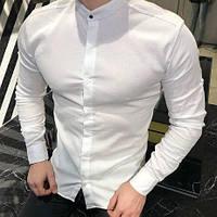 Рубашка стойка воротник