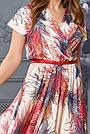 Шелковое женское платье в пол с принтом, цвет золото, фото 4