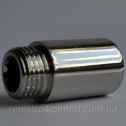 """Kalde металлический резьбовой удлинитель 1/2"""" 25 мм (хром)"""