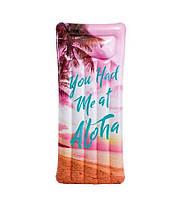 Пляжный надувной матрас - плот с подголовником Intex 58772  EU «Вдохновение», 178*84 см, 3 вида