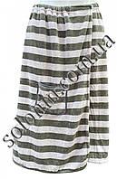 Мужской халат-полотенце комплектом с полотенцем для рук., фото 1