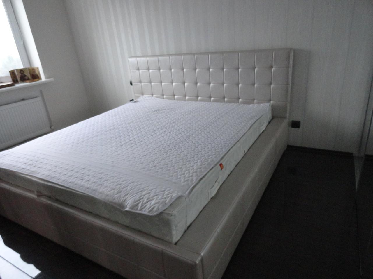 Кровать двуспальная белый жемчуг не дорого